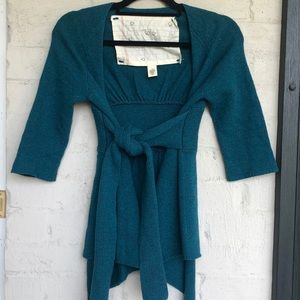 Anthropologie teal sweater
